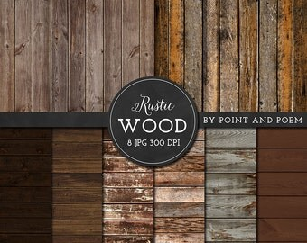 Wood Digital Paper, Rustic wood texture background, old, distressed texture, scrapbooking, blog, wedding - Commercial Use