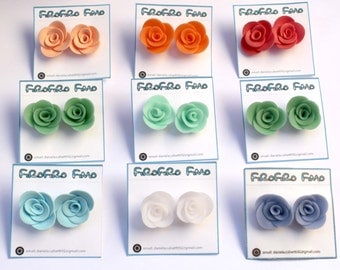 Rosine (all color Stud Earrings, nickel free)