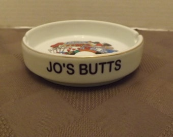 Jo's Butts Ashtray - Souvenir of Vegas