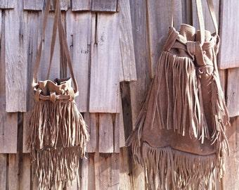 70s fringe leather bag | boho fringe purse | 70s hippie purse | 70s fringe purse | Leather fringe  bag