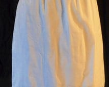 Embroidered White Cotton Slip with Modesty Panel by Hollywood Vassarette