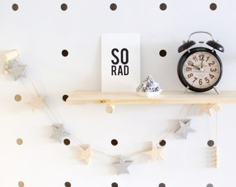 Wooden Star Garland // Baby // Nursery // Kids Decor // Gift