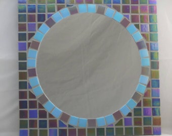Multi colored Iridescent mosaic mirror