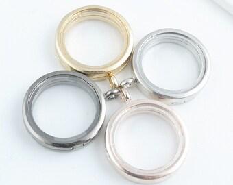 5pcs 30mm Round Floating Locket, Glass Locket Pendant, Floating Glass Lockets, Wholesale Floating Lockets LK0002