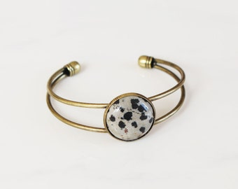 Gemstone Bangle - Dalmatian Jasper