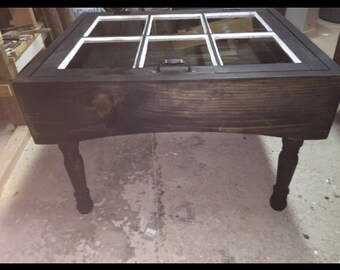 Arched Shadowbox Coffee Table