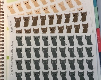 Kitten Stickers! Cat Stickers! Perfect for your Erin Condren Life Planner, calendar, Paper Plum, Filofax!