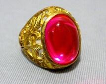 Haunted LP 711,000 Marid Djinn Talisman Ring Powerful New Arrival Magic Glassy Pink