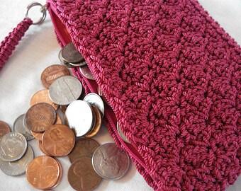 Coin Purse w/ Wrist Strap, change purse, womens change purse, woman coin pouch, zipper pouch, coin purse wallet, small zip purse, MIL gift