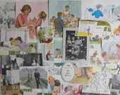 family themed ephemera pack for junk journals, smash books, art journals, collage and altered art - family themed