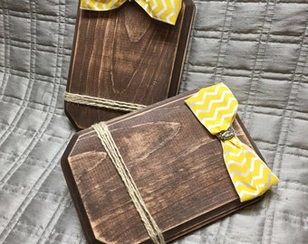 Yellow chevron wood frame