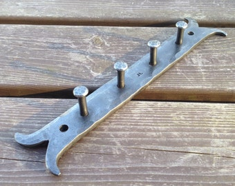 Key rack, hand forged, key hanger, coat rack