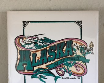 Vintage Alaska Decorative Tile 1994