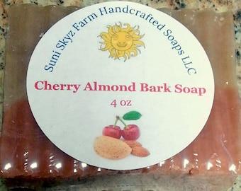 Cherry Almond Soap - Cherry Almond Bark Soap - Cherry Soap - Almond Soap - Vegan Cherry Soap - Vegan Almond Soap - Vegan Cherry Almond Soap