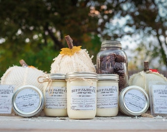 CHOOSE 12-8 oz jar--EcoFriendly--Wholesale--Handpoured Soy Wax Candles --