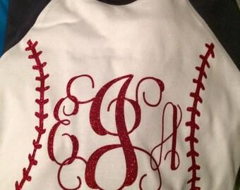 Monogrammed Baseball/Softball Shirt