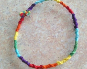 Friendship, Rainbow Bracelet for small wrist.