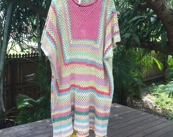 Vintage 70s crotchet dress