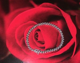 10k white gold diamond bracelet