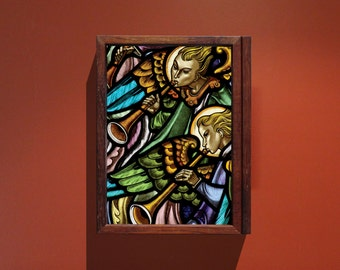 Angels A4 print with free-standing or wall mountable box frame