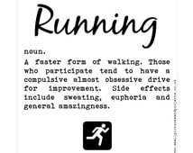 Runner's Card - Dictionary definition of Running