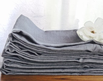 Grey Linen Towels (8), Linen Dish towels, Grey Linen Kitchen Towels, Grey Hand Towels, Grey linen dish towels, Grey linen  towels