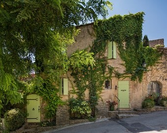Cottage in Ansouis, Provence, France Photography, Rural France, Provence Photography, Summer in Provence, Fine Art Print