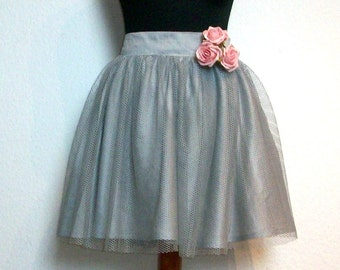 Tulle skirt layered look - éminence grise
