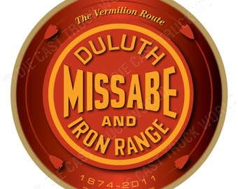 Duluth, Missabe, & Iron Range Railroad Wood Plaque / Sign