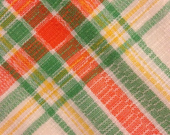 Small 1960s Vintage Retro Cotton Tablecloth