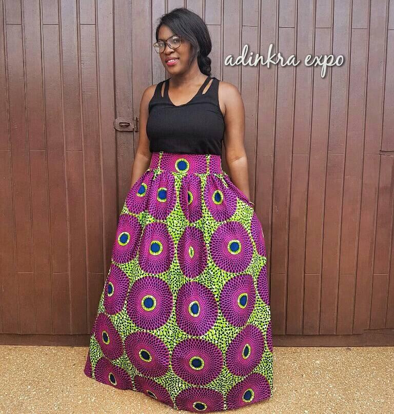 how to make an ankara maxi skirt