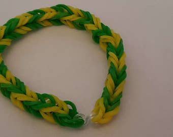 Green and Yellow Loom Bracelet