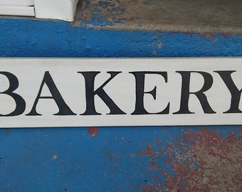 Bakery, stenciled wood sign, fixer upper, hand painted sign