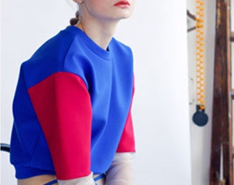 Neoprene Block Colour Sweater