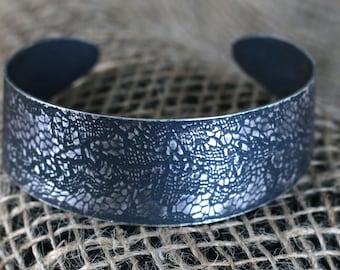 Sterling Silver Lace Cuff