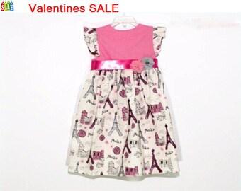 Baby Girls Eiffel Tower dress, Baby girl dress, baby dress, birthday outfit, toddler dress, Girls Dress, party dress, Birthday Dress