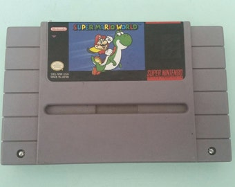 Super Mario World Cartridge Works Great SNES Free Shipping