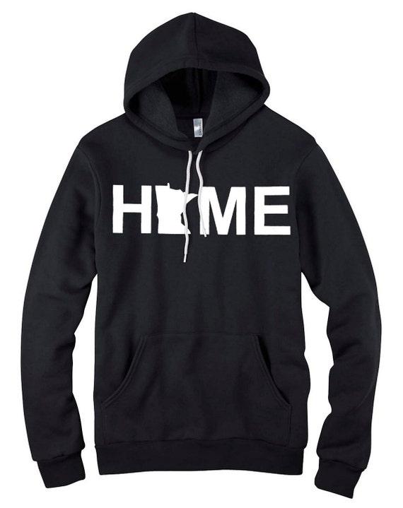HOME - Minnesota - Hooded Sweatshirt - Unisex - BLACK