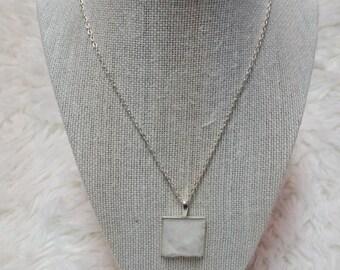 "Rabbit fur necklace ""white"""