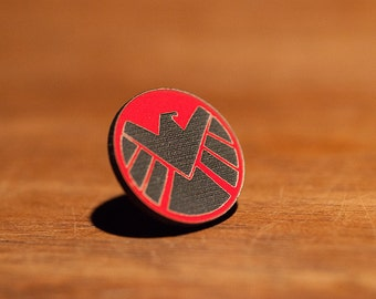 Agents of SHIELD Pin -  Avengers Captain America Ward Coulson May Nick Fury Hydra Bobbi Wolfgang von Strucker Viper Hive  MCU Skye Fitz