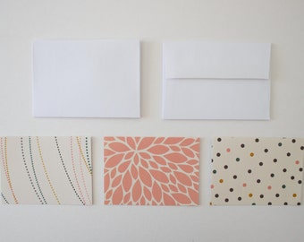 stationary cards, blank cards, blank notecards, note card set, stationary set, modern stationary, card set, geometric cards, note cards