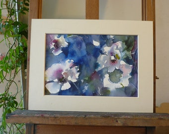 Original Watercolour; Anemones