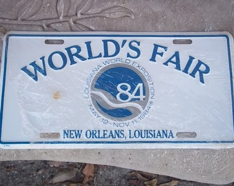 1984 World's Fair License Plate