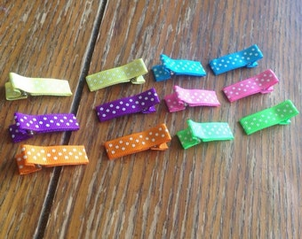 Lined alligator clips - 15 colours to choose from