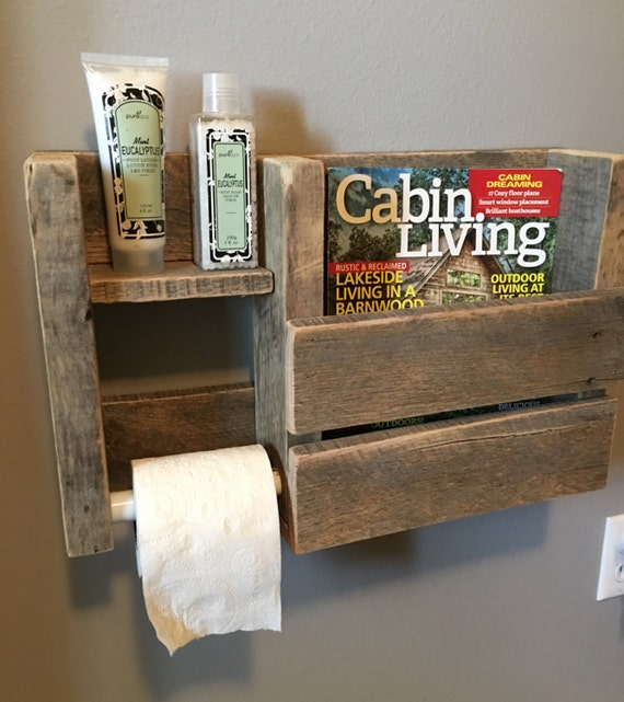 Magazine toilet paper bathroom rustic decorative holder for Porte papier toilette ikea