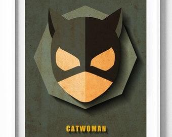 Catwoman Prints, Batman Printables, DC Comics, Illustration Download, Kids Decor, Girls Decor, Playroom Decor, Home Decor, Wall Art, Gifts