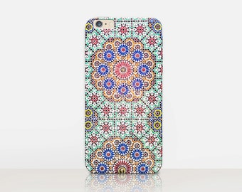Exotic Tile Phone Case For- iPhone 8, 8 Plus, X, iPhone 7 Plus, 7, SE, 5, 6S Plus, 6S, 6 Plus, Samsung S8, S8 Plus, S7, S7 Edge