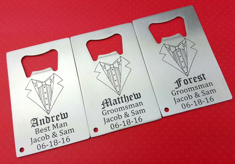 groomsmen wallet card bottle opener personalized bottle. Black Bedroom Furniture Sets. Home Design Ideas