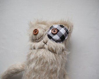 Furry stuffed Monster, handmade monster, fluffy monster, stuffed animal, nursery toy, soft doll, cute monster, plush monster, plushie