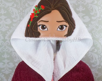 Elena of Avalor Disney Princess Inspired Hooded Towel on High Quality Belk Department Store Towels
